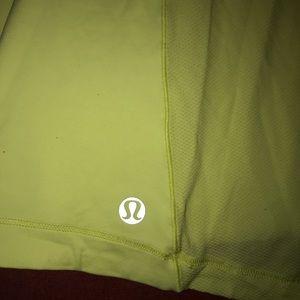 lululemon athletica Tops - Lululemon Yellow Crossback Tank Shirt 10